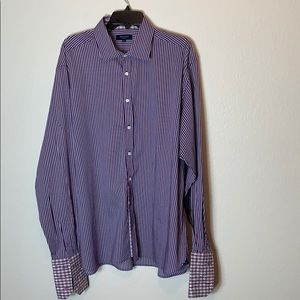 Ted Baker Purple Stripe French Cuff Men's Shirt